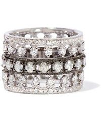 Annoushka Crown Diamond Ring Stack In 18ct White Gold