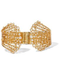Annoushka Hidden Reef 18ct Gold Diamond Cuff - Metallic