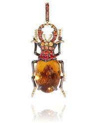 Annoushka Mythology 18ct Gold Citrine Beetle Charm - Metallic