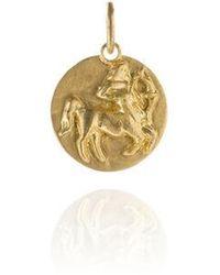 Annoushka Mythology 18ct Gold Sagittarius Pendant - Metallic