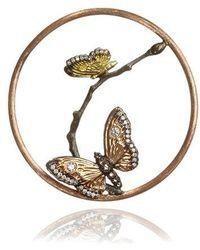 Annoushka 18ct Rose Gold Diamond Butterfly Hoopla - Metallic