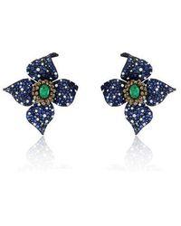 Annoushka Sutra Sapphire Earrings - Blue