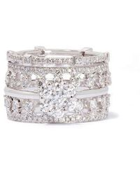 Annoushka Daisy Pavilion Ring Stack In 18ct White Gold