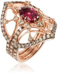 Annoushka - Imperial 18ct Rose Gold Tourmaline Jacket Ring - Lyst