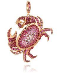 Annoushka Mythology Crab Pendant - Multicolour