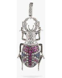 Annoushka Mythology 18ct White Gold British Beetle Charm
