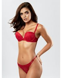 Ann Summers Sexy Lace Push Up Extreme Boost Bra - Red