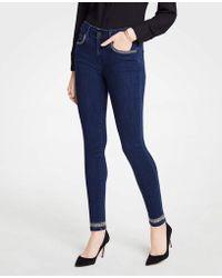 Ann Taylor - Tall Modern Shimmer Trim All Day Skinny Jeans - Lyst