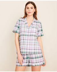 Ann Taylor Plaid Pajama Set - Multicolor