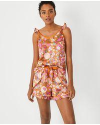Ann Taylor Batik Floral Cami Pyjama Set - Multicolour
