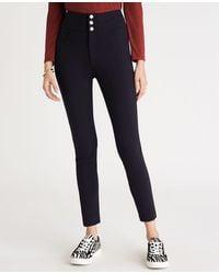 Ann Taylor Petite Five Pocket High Rise Triple Shank Trousers - Black