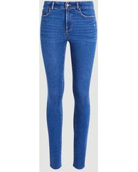 Ann Taylor Sculpting Pocket Mid Rise Skinny Jeans In Mid Stone Wash - Blue