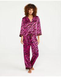 Ann Taylor Zebra Print Silky Pajamas - Multicolor