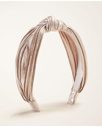 Ann Taylor Rose Gold Metallic Knotted Headband