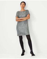 Ann Taylor Sequin Shift Dress - Grey