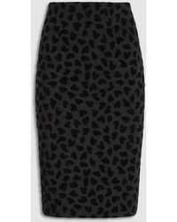 Ann Taylor Tall Heart Pull On Pencil Skirt - Black