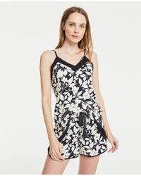 Ann Taylor Floral Cami Pajama Set - Black