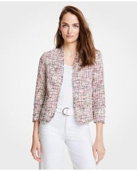 Ann Taylor - Petite Rainbow Tweed Jacket - Lyst