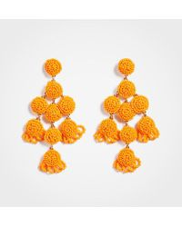 Ann Taylor - Large Seed Bead Statement Earrings - Lyst