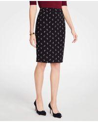 Ann Taylor - Floral Pencil Skirt - Lyst