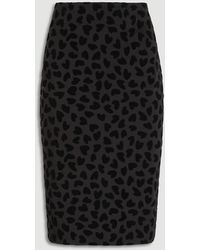 Ann Taylor Heart Pull On Pencil Skirt - Black
