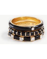 Ann Taylor - Enamel Stackable Ring Set - Lyst