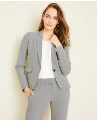 Ann Taylor The One-button Blazer In Houndstooth - Multicolour