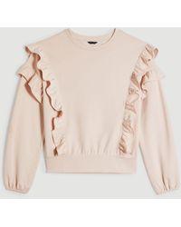 Ann Taylor Ruffle Sweatshirt - Natural