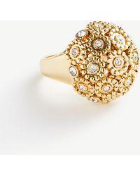 Ann Taylor Pave Fireball Ring - Metallic