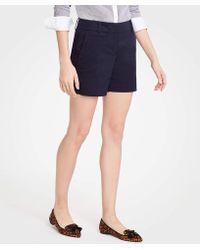 Ann Taylor - Cotton Mid Shorts - Lyst