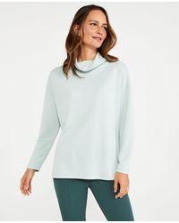 Ann Taylor Petite Cowl Neck Tunic Sweatshirt - Grey