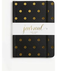 Ann Taylor Sugar Paper Polka Dot Journal - Black