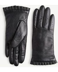 Ann Taylor Leather Gloves - Black