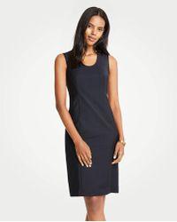 c5b21454 Ann Taylor - The Petite U-neck Sheath Dress In Tropical Wool - Lyst