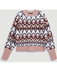 Ann Taylor Fair Isle Jacquard Sweater - Multicolor