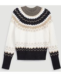 Ann Taylor Fair Isle Sweater - White