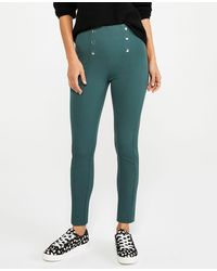 Ann Taylor The Petite Sailor Skinny Ankle Pant - Green
