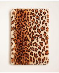 Ann Taylor Cheetah Print Faux Fur Snood - Natural