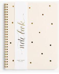 Ann Taylor Sugar Paper Gold Dot Spiral Notebook - Multicolour