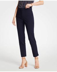 Ann Taylor Easy Ankle Trousers - Blue