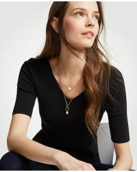 Ann Taylor - Pearlized Layering Necklace - Lyst