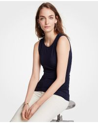 Ann Taylor - Side Ruched Knit Tank - Lyst