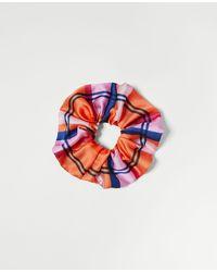 Ann Taylor Madras Plaid Scrunchie - Multicolour
