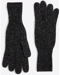 Ann Taylor Cashmere Jersey Gloves - Gray