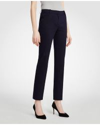 Ann Taylor | The Petite Ankle Pant In Cotton Sateen - Curvy Fit | Lyst