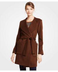 Ann Taylor - Petite Wool Blend Wrap Coat - Lyst