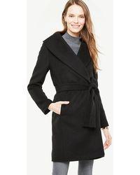 Ann Taylor - Shawl Collar Wrap Coat - Lyst