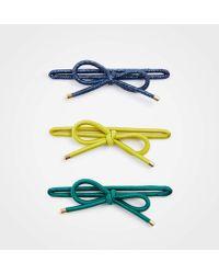 Ann Taylor Bow Elastic Hair Tie Set - Multicolour