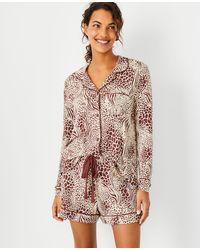 Ann Taylor Mixed Animal Print Pyjama Set - Multicolour