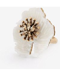 Ann Taylor | Textured Floral Ring | Lyst